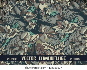 vector forest camouflage