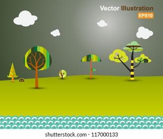 vector forest modern