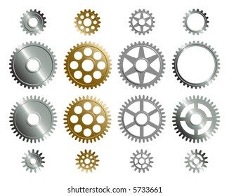 Vector format of various gears.