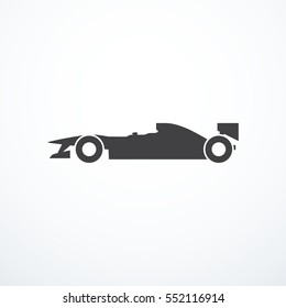 Vector Formula Race Car Icon