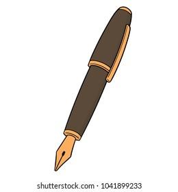 vector of fountain pen