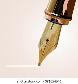 Vector fountain pen
