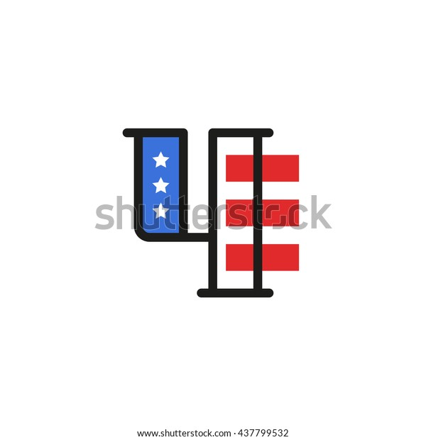 Vector Fourth of july independence day letter. Illustration sign