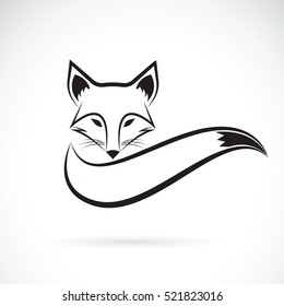 Vector of a fox design on a white background, Wild Animals, Vector illustration.