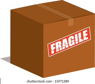 vector fragile moving box