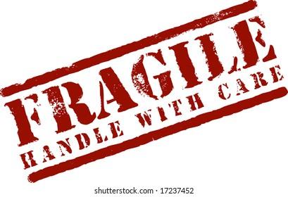 A Vector Fragile Stamp