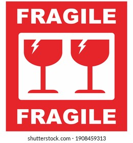 Vector fragile symbol. Be careful moving this item.