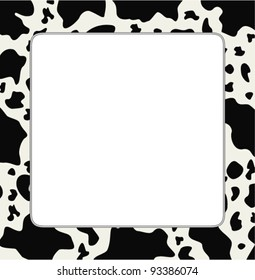 ccbeb595f9 vector frame with abstract cow skin texture and copy-space