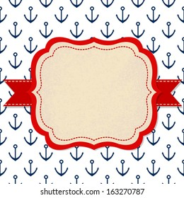 Vector frame with anchor pattern