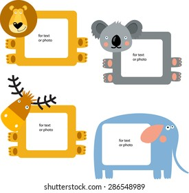 Vector frame with animals