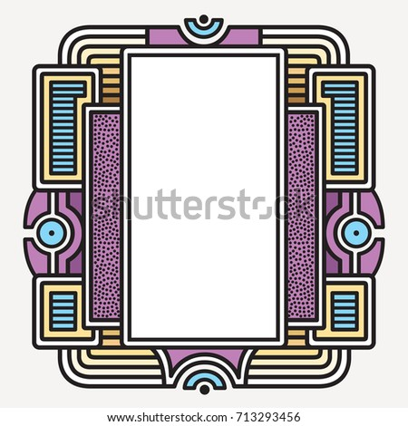 d72d80d908 Vector frame Art graphics. dynamic frames stylish geometric white background.  element for design invitations