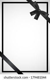 Vector frame with black ribbon
