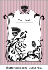 vector frame decorated with thistle
