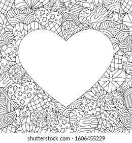 heart coloring pages images stock