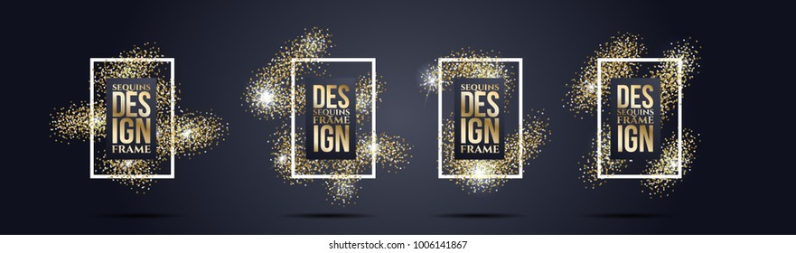 vector frame of modern fashion sequins. design of graphics for the design of booklets, flyers, cards and cover. fashionable sequins for the background
