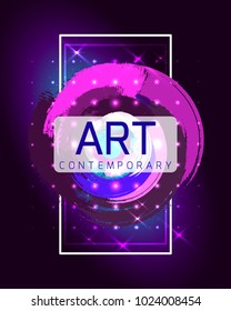 Vector frame for text. Contemporary art