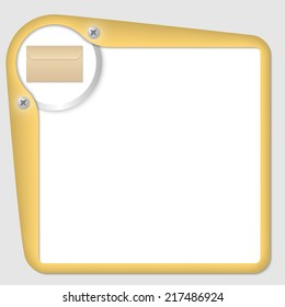 vector frame for text with envelope