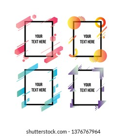 Vector frame for text and labels in the style of Modern Art graphics