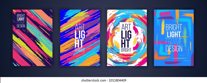 Vector frame for text Modern Art graphics for hipsters . dynamic frame stylish geometric stripes stylish colorful frame. design for decoration of brashur, flyers, envelope, cards. paper size a4.