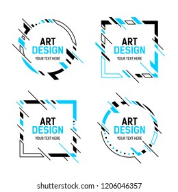 cccda73b7a Vector frame for text Modern Art graphics for hipsters . dynamic frame  stylish geometric white background
