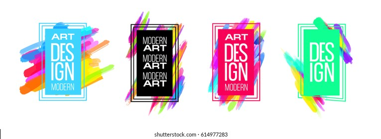 Vector frame for text Modern Art graphics for hipsters . dynamic frame stylish geometric black background with gold. element for design business cards, invitations, gift cards, flyers and brochures