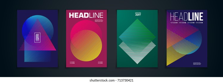 Vector frame for text Modern Art graphics for hipsters . dynamic frame stylish geometric . element for design business cards, invitations, gift cards, flyer and brochures.