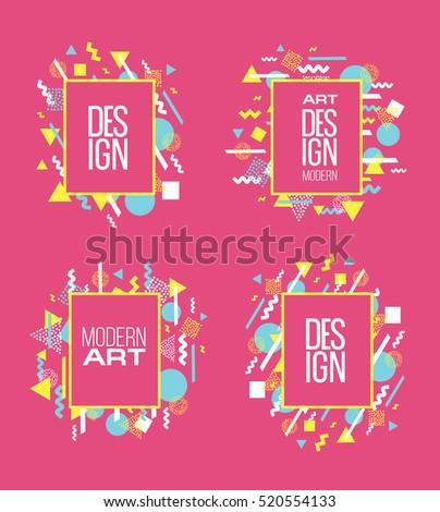 4bd531a49e Vector Frame Text Modern Art Graphics Stock Vector (Royalty Free ...
