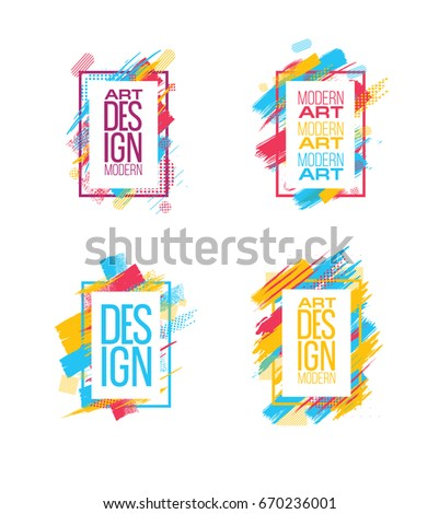 4700de3fd6 Vector frame for text Modern Art graphics for hipsters . dynamic frame  stylish geometric black background with gold. element for design business  cards