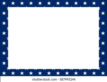 Vector Frame of white stars on a blue background