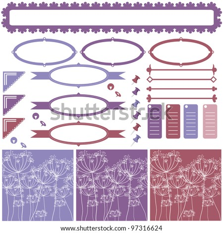 vector frames boarders pleasant pastel colors stock vector royalty