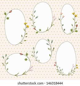 Vector frames with flowers