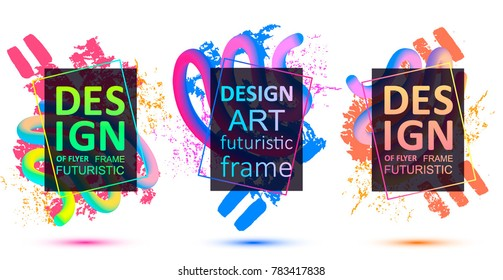 Vector framework for text. Modern graphics for hipsters. abstraction, splashes of paint on the background. an element of design of business cards, invitations, gift cards, leaflets and brochures. recr