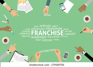 vector franchise concept, template