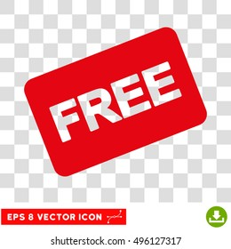 Vector Free Card EPS vector icon. Illustration style is flat iconic intensive red symbol on a transparent background.