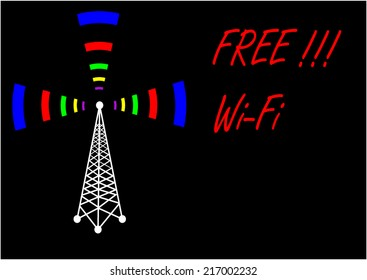 Vector free Wi-Fi sign