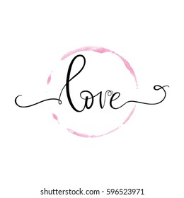 """Vector freehand letters """"love"""" text doodles. Hand lettering"""