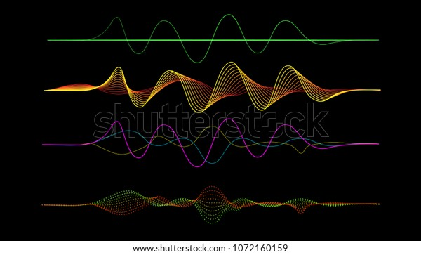 Vector Frequency Audio Music Equalizer Digital Stock Vector (Royalty