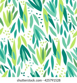 Vector fresh pattern of tropical leaves in lovely style.