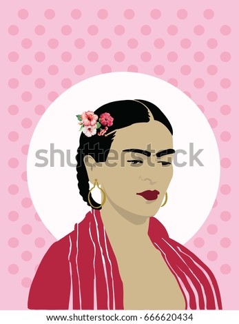 vector frida kahlo background wallpaper