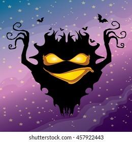 vector frightening monster. nightmares concept illustration template. fear