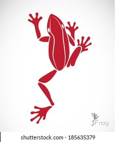 Vector of frog design on white background. Vector frog for your design.