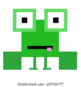 Vector frog are made of squares and rectangles