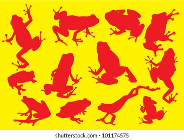 vector frog silhouette