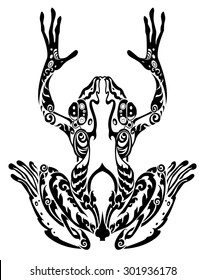 tribal frog images stock photos vectors shutterstock rh shutterstock com Tribal Phoenix Tribal Leopard