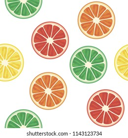 Vector fruits seamless isolated pattern. White background for menu, restaurant, textiles, cards, invitations, website, banner, cafes, restaurants, coffee shops, catering.