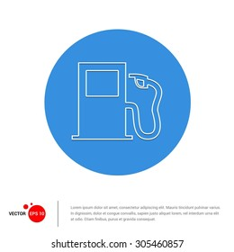 Vector Fuel Pump Icon Illustration. Flat pictogram icon