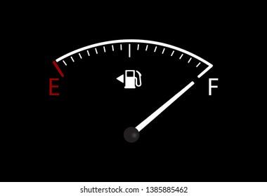 Vector of full car fuel gauge