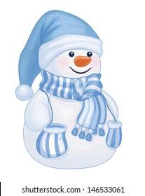 Vector of fun snowman isolated.