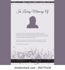 Death Invitation Card Images Stock Photos Vectors