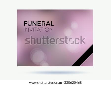 Vector Funeral Invitation Stock Vector Royalty Free 330620468